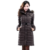 Formal brief elegant slim women's design long overcoat down coat outerwear