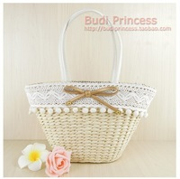 Women's handbag summer bag straw bag beach bag one shoulder knitted innumeracy women's handbag