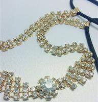 10pcs 2013 brand design women's fashion blingbling crystal Elastic hairband Head Wrap luxurious rhinestone hair accessories