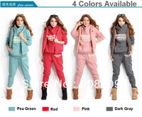 2013 New Women fashion hoodies suit , thickening casual sports Hoodie (hoody+panty+vest) 3pcs sets Sweatshirts, Free shipping