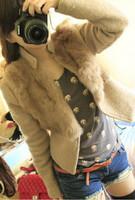 2013 winter autumn women woolen coat fashion short jacket artificial wool fur collar parka, free shipping