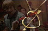 Free shipping a lot 20PCS Harry Potter Ron Weasleys Sweetheart Necklace Harry Potter necklace HLBT02