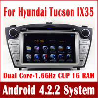 Android 4.0 Car DVD Player for Hyundai Tucson / IX35 with GPS Navigation Bluetooth TV Map AUX USB Radio 3G WIFI CAN Bus Sat Nav