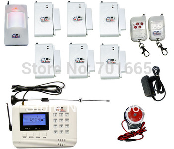 Free shipping + SZ bazaar HOT NEW  Wireless 2014 GSM/PNTS/SMS/Call Autodial  LCD Home Security Alarm System 06