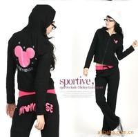 new 2014 cute mickey mouse sport suit cotton sweatshirt hooded cartoon