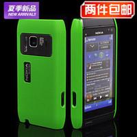 NEW DESIGN Mesh Hard Back Rubber Case Cover Skin Coating For Nokia N8 Case Multicolor Choose Free Shipping
