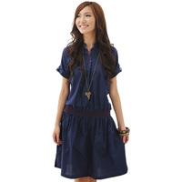 Mm plus size clothing summer plus size chiffon one-piece dress 8608