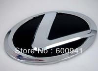 1 PCS Lexus Car Motor Chrome 3D Badge Emblem Sticker  Steering Wheel Hood Bumper Pillar 57MM
