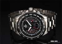 Free Shipping!!! 2013 Cool Style CASIMA Stainless Steel  Waterproof Charonograph Quartz Watch For Men