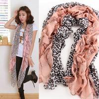New 2013 2013 autumn and winter scarf Women bali yarn leopard print chain cape long silk scarf