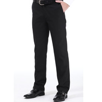 Fashion draping slim casual western-style trousers anti-wrinkle easy care trousers male