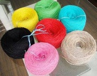 Free shipping Diy handmade accessories three piles photos of wall Rope natural multicolour Hemp Rope 5pcs/lot  A143