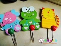 Free shipping Home decoration cartoon hook animal hook Wooden Hook 10pcs/lot  A144