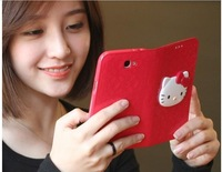 s2013 new arrival, Luxury 3D hello kitty PU leather Case flip wallet case for iPhone 4 4S 5, Samsung Galaxy S3, S4, N7100