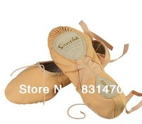 Sansha pig leather dance shoes ballet slippers excellent practice shoes flats pink and black available free shipping