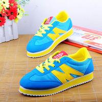 Color block decoration candy casual shoes sport shoes forrest single shoes kilen flat casual shoes breathable shoes flat