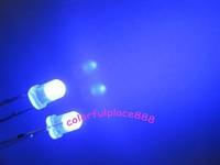 1000pcs, 3mm Blue Bright Diffused 5K MCD LED Leds Blue Lens Light Lamp 2-Pin Bulb Free Shipping