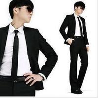 2013 male business casual sets fashion slim suits black suit formal work wear Men