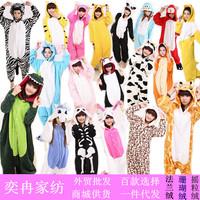 Autumn and winter thickening sleepwear cartoon coral fleece lovers owl animal one piece coral  kigurumi pajamas