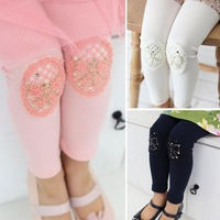 Children's clothing  2013 autumn female child legging medium-large girl bow all-match long legging trousers