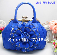For women`s 2013 fashion brand design tote handbag flower big bag inlay jewelry good quality brand bag free shipping