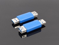 Free shipping USB 3.0 male to female Adapter Converter blue 20pcs/lot