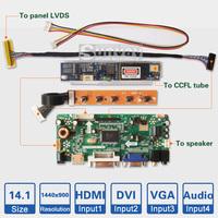 "F 17"" inch 1920*1200 Laptop LCD screen controller board kit HDMI DVI VGA Audio input LVDS AD board CCFL Backlight driver board"