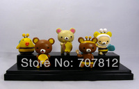 New Arrival Rilakkuma Action Figures Cute Collection Toys PVC 5PCS/Set High Quality Free Shipping