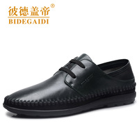 Hot Sale 2013 New British Fashion Men's Casual Gommini Loafers Genuine Leather Upper Slip-on Driving Doug Shoes Comfort Flats