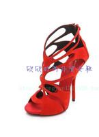 Gz women's shoes gz G red cutout butterfly high-heeled sandals cutout cool boots banquet