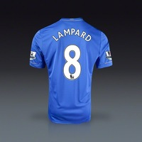 Free shipping 2012-13 best thai quality mens chelsea home blue soccer jersey football Lampard jerseys