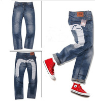 Original Men's Wash Cotton Denim Jeans, Leisure & Casual LOGO pants, 7 Styles Men Trousers High Quality Famous Brand Jeans