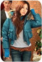 Hot sale 2013 new lady fashion winter polyester jacket