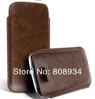 Free shipping  13Colors PU Leather Pull Tab Pouch Case Cover For Samsung Galaxy S4 min SIIIl I9190