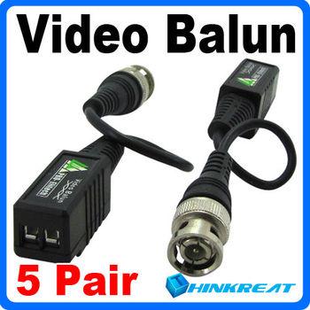 10Pcs/Set  UTP Network Video Balun CAT5 to Camera CCTV BNC DVR Free Shipping
