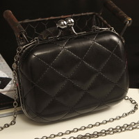 2013 candy color plaid chain bag shoulder bag clutch day clutch evening bag small bag women's handbag