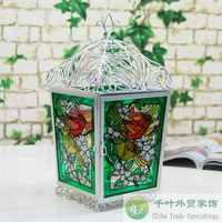 Fashion rustic metal storm lanterns