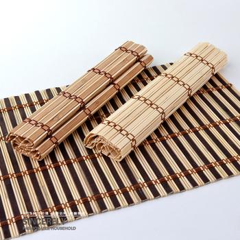 Free Shipping 2pcs/lot Handmade Bamboo Tea Curtain Table Mat Tea Accessories Tea Cup Placemat Coasters