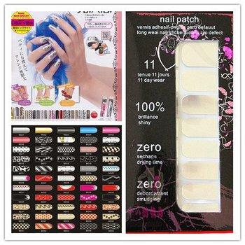 DHLhot sellingFree Shipping 20pcs/lot NEW Brilliance Shiny Self Adhesive Minx Style Nail Sticker NEW Nail Foil Nail Patch Art Pr
