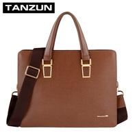 Quality cowhide man bag business casual bag shoulder bag messenger bag handbag briefcase