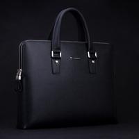 Cowhide male cowhide genuine leather business bag briefcase handbag laptop bag
