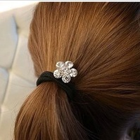 crystal flower hair rings hair circle hair bands hair rope for women MIN-ORDER $6 MIX ORDER
