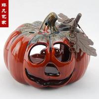 Ceramic halloween pumpkin lamp light decoration halloween decoration supplies halloween gift