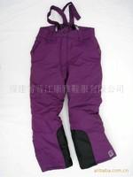2013 NEW Phibee girl child winter thermal plus velvet thickening cotton-padded sport skiing snowboard  pants detachable hanger