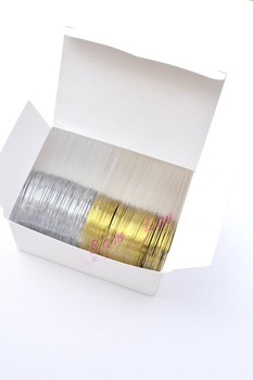DHLhot selling50pcs Gold Color + 50 pcs Silver Color Striping Tape Metallic Yarn Line Nail Art Decoration Sticker + Free Shippin