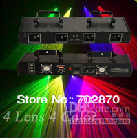 380mW 4 Heads 4 Lens GRYP RGYP Sound Control DJ Laser Light Show Beam Professional DMX Stage Lighting Fast Ship