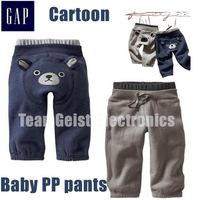 20pcs/lot wholesale Cartoon winter baby kids Children Pantaloni cotton Fleece thick elastic waist cotton PP pants Free shipping