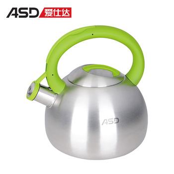Asd 2.7l 304 senior stainless steel water bottle whistling colorful kettle wg1527