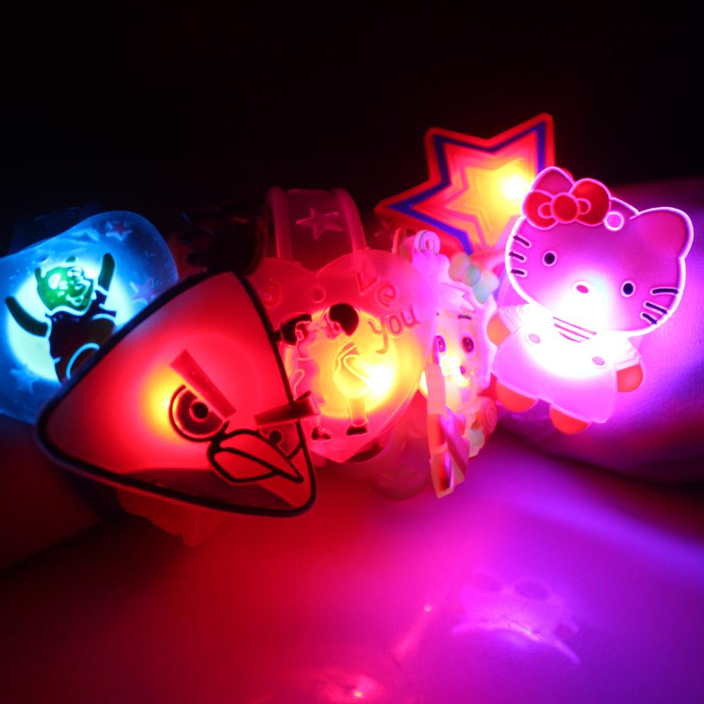 Wedding Decoration Seconds Kill free Shipping Flash Wrist Length Belt Led Luminous Hand Ring Watches Neon Stick Birthday Gift(China (Mainland))