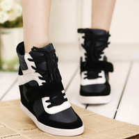 Mushroom 2013 free shipping new arrival women's casual shoes elevator shoes genuine leather high-top shoes